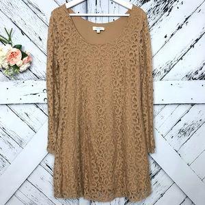 Umgee   Full Lace Long Sleeve Dress